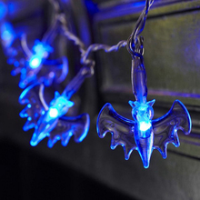 hot deal buy halloween bat led fairy string lights 10 blue purple red bat lights halloween decoration lights home hanging props party decor