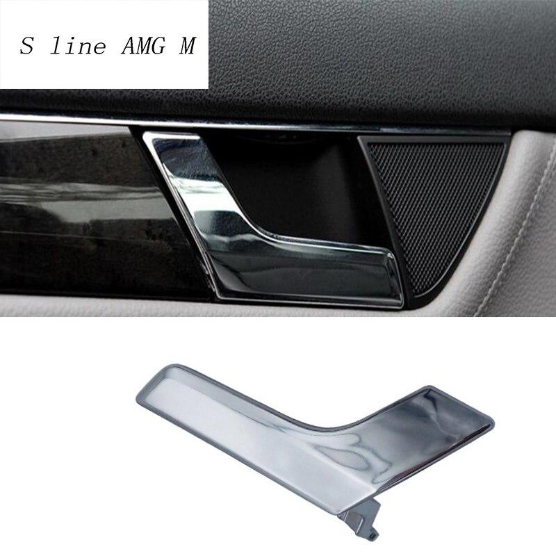 Car styling Intérieur Poignée De Porte Couvre L'équilibre Porte Bol Autocollants décoration Garniture pour Mercedes Benz Classe C W204 auto accessoires