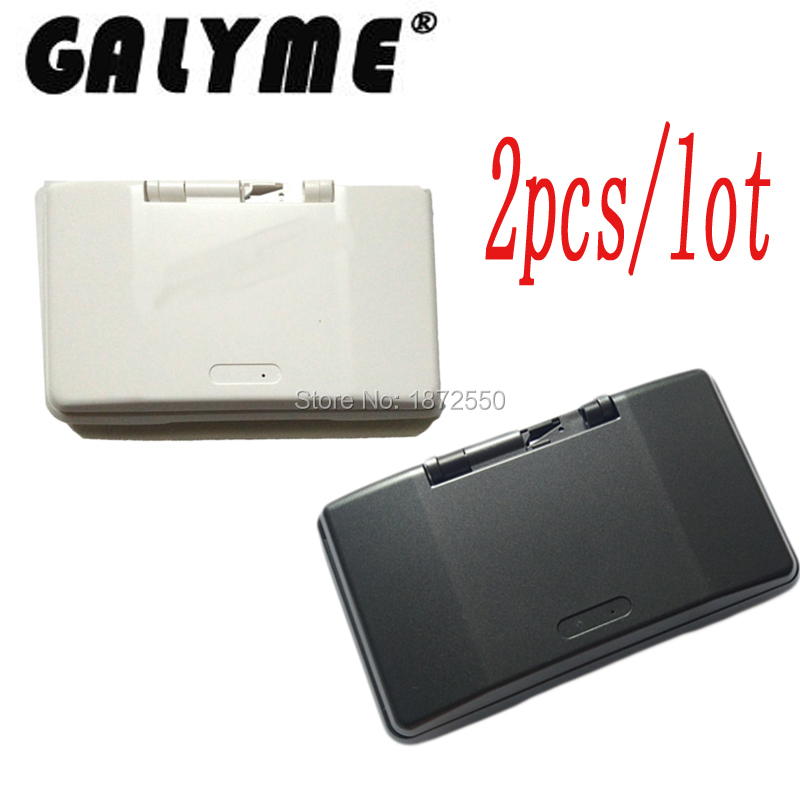 2PCS/LOT Brand New Case for NintendoDS DS Dual Screen Retro Game Console Shell Black/Iron Gay Color Complete Boy Housing Shell