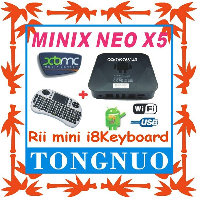 [Rii mini i8 Wireless Keyboard] MINIX NEO X5 RK3066 Dual Core Cortex A9 Google Smart Android TV Box Wifi Bluetooth USB RJ45 HDMI