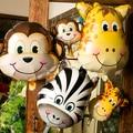 Safari de la Fauna Animal Tiger Lion Mono Cebra Jirafa Ciervos Vaca Globo Fiesta de Cumpleaños Regalo de Los Cabritos Animal Zoo Tema de Suministro de Aire