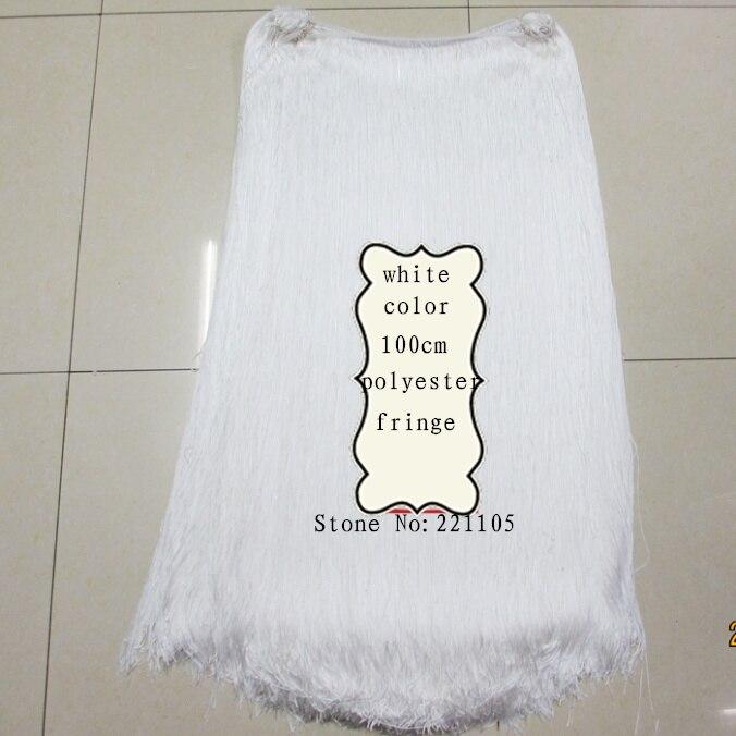Černá bílá 100CM dlouhý polyester střapec lemování lemování Africké krajky stuha pro šití latinské šaty oděv Cutrain příslušenství  t