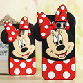 3d cute cartoon soft silicone case lovely mickey minnie mouse rubber cover for Sumsung galaxy S4 S5 S6 S7 edge note 3 4 5