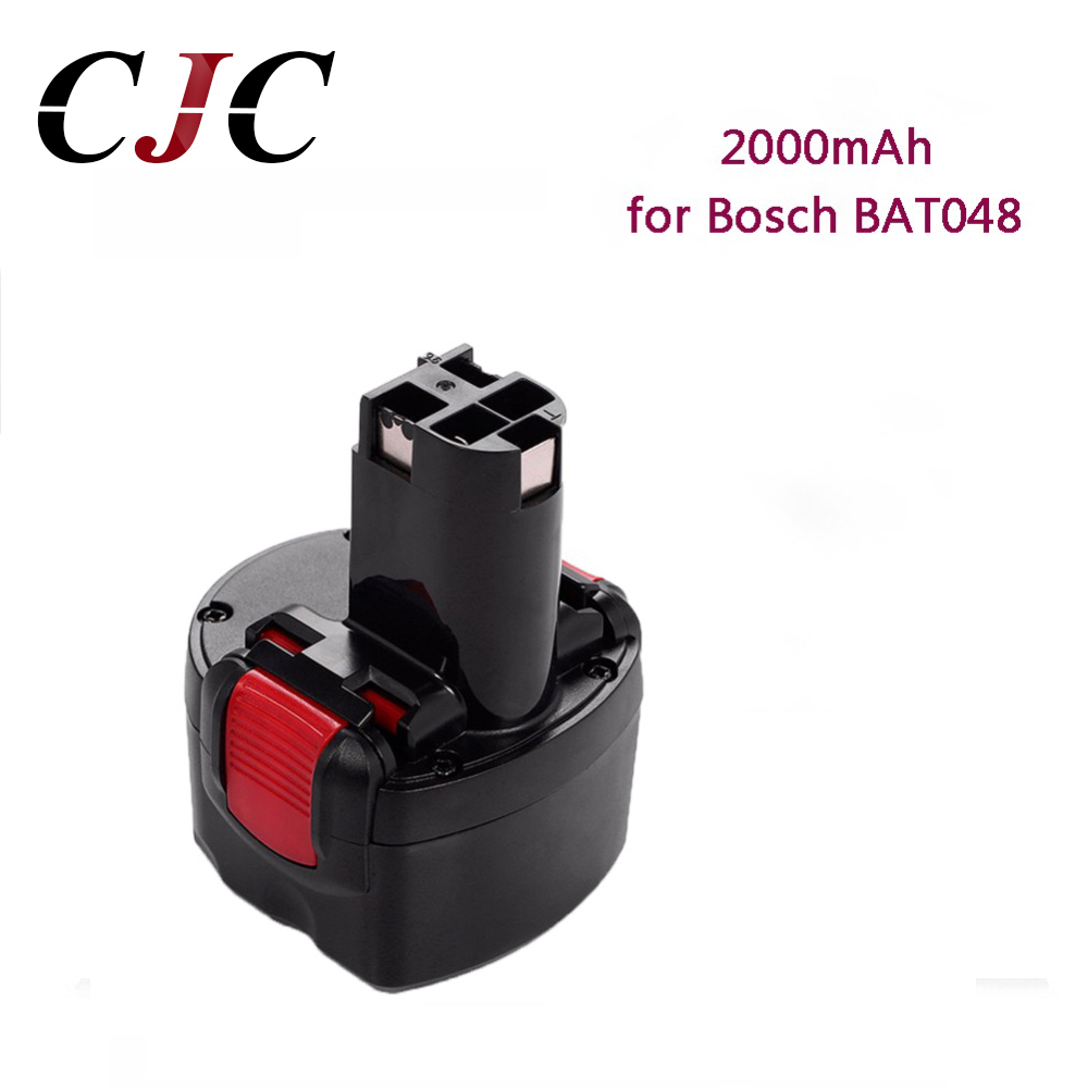 Rechargeable Power Tools Battery 9.6V 2000mAh Ni-CD for Bosch BAT048 PSR 960 2 607 335 272 32609-RT BAT119 BH984Rechargeable Power Tools Battery 9.6V 2000mAh Ni-CD for Bosch BAT048 PSR 960 2 607 335 272 32609-RT BAT119 BH984