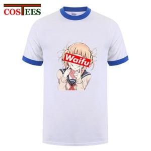 Футболка Neko Waifu для девочек, летняя модная футболка для мужчин, Himiko Waifu, My Hero, забавная футболка для студентов, Ahegao, Харадзюку, классная футболка