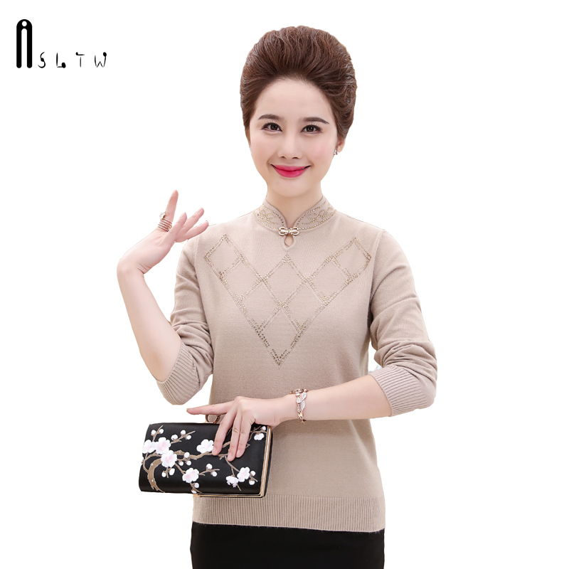ASLTW Lady's Sweater 2018 New Autumn Fashion Mandarin
