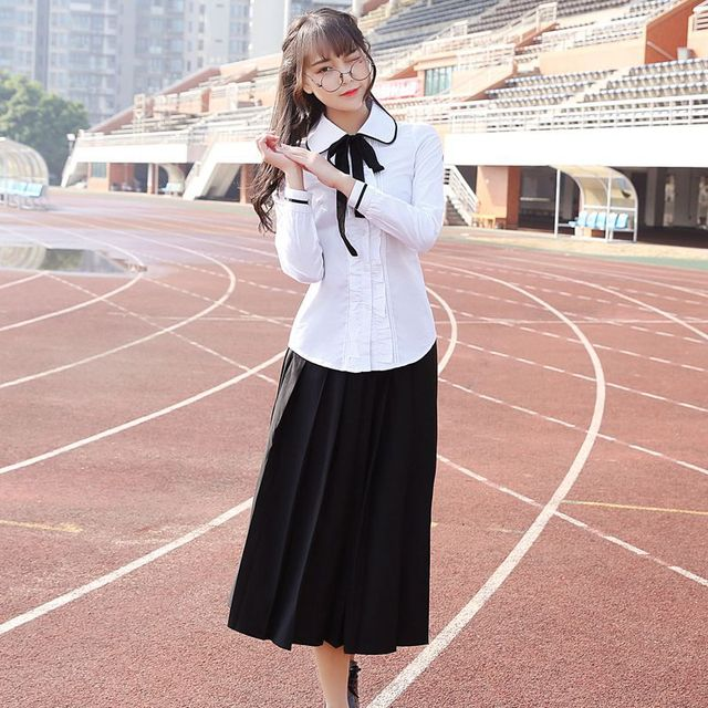 Adult Naughty Japan Korea England Casual Wear Preppy Chic White Popular Lovely Long -1415