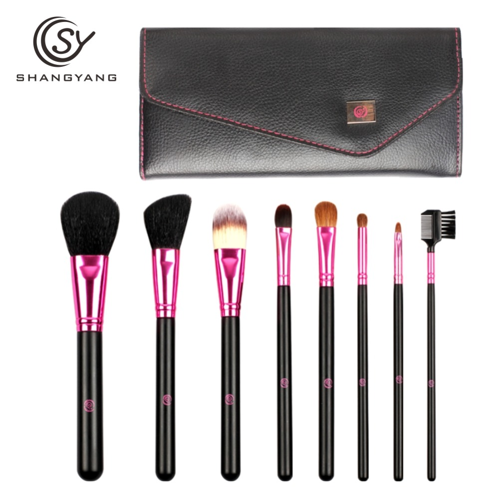 SY 8PCS Portable Professional Makeup Brushes Set For BB Cream Powder Beauty Makeup
