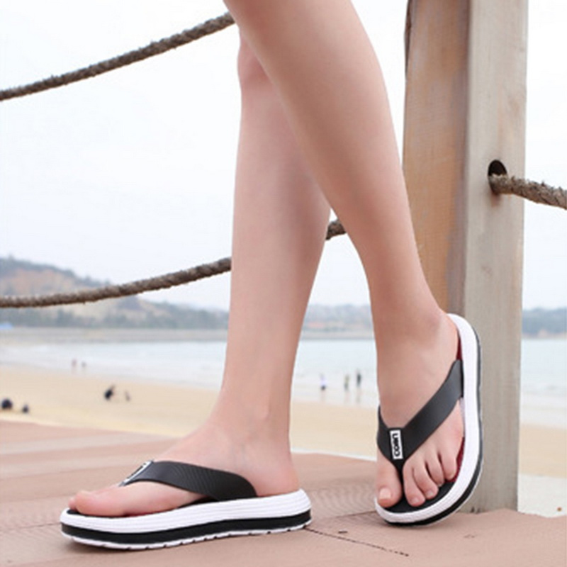 Oeak Female Shoes Slippers Flops Beach-Sandals Massage Casual Striped Torridity