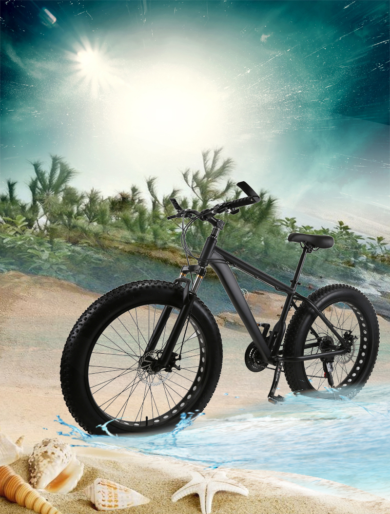 HTB1vfiCKbSYBuNjSspfq6AZCpXaL wolf's fang Mountain Bike bicycle fat bike 21 speed Aluminum alloy frame 26 inch  road Snow bikes Man Free shipping