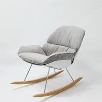 Minimalist Modern Design Rocking Chair Living Room Soft Cushion Solid wooden leg Rocker Lounge Chair Home Decoration Furniture