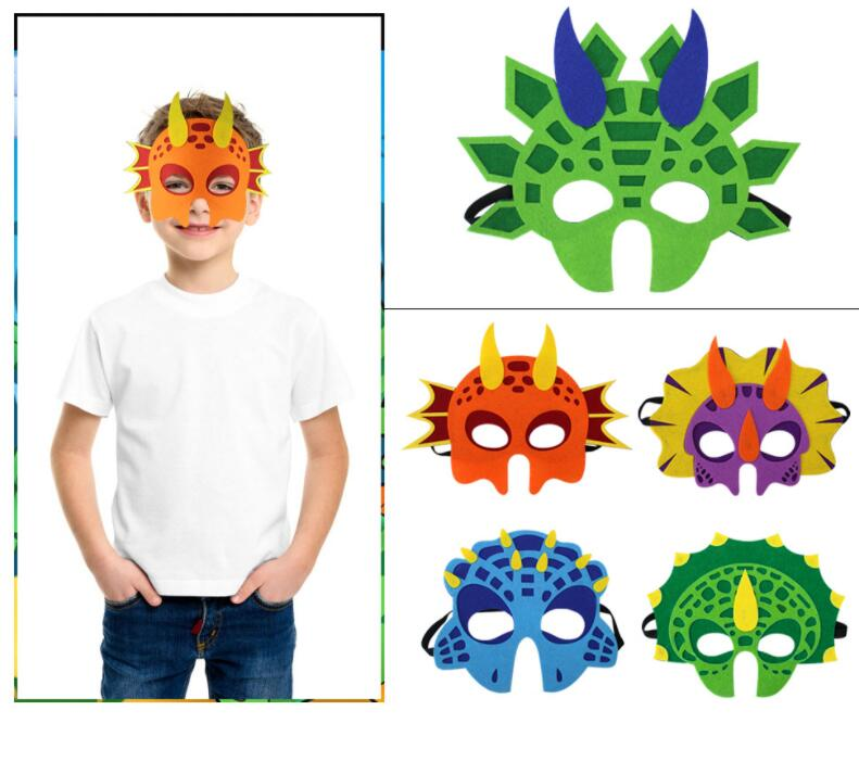7PCS Dinosaur Party Masks Animal Decorative Party Favors Face Mask for Themed Party Masquerade Halloween Cosplay DIY Xmas toy