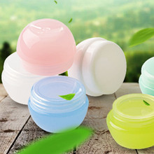 5 Buah Isi Ulang Botol Plastik Kosong Makeup Pot Jar Perjalanan Face Cream/Lotion/Wadah Kosmetik Warna Acak(China)
