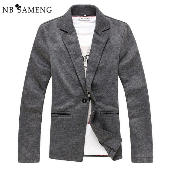 2017 New Arrival Spring Autumn Mens Blazer Jacket Slim Fit Suit Jackets For Men Knitted Blazers Jaqueta Masculina 1310-X02