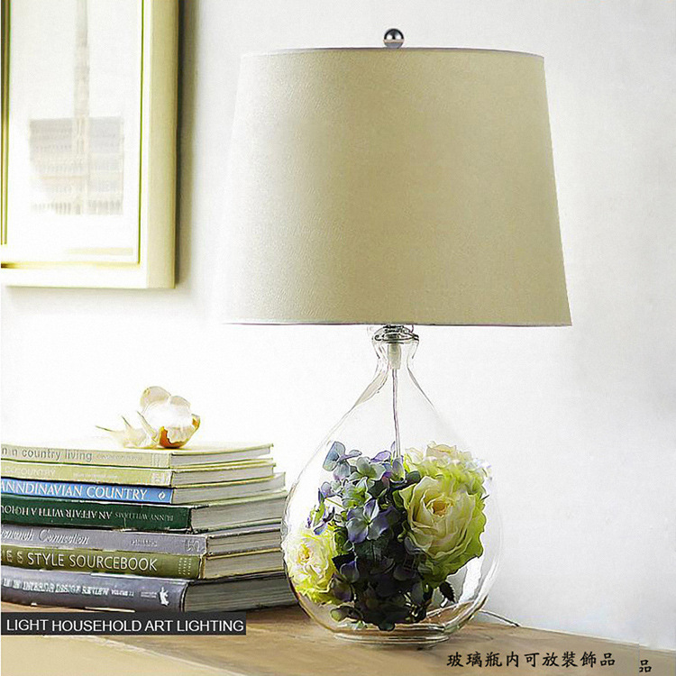 American nordic glass bottle desk lamp for bedroom bedside lamp Desk light Living Room Bedroom Decor 110-240VAmerican nordic glass bottle desk lamp for bedroom bedside lamp Desk light Living Room Bedroom Decor 110-240V