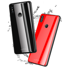 Tempered Glass Case for Xiaomi Mi Mix 2S Mix2S luxurious High Hardness Glass Back Cover For Xiaomi Mi Mix 2S Case Soft Border for xiaomi mi mix 2s case mix2s cover silicone frame classic deer pattern fabric back cover for xiaomi mi mix 2s case