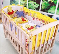 Kingtoy 5 PCS Baby Bedding Set Animal Bear Crib Bedding Set 100 Cotton Baby Bedclothes Include
