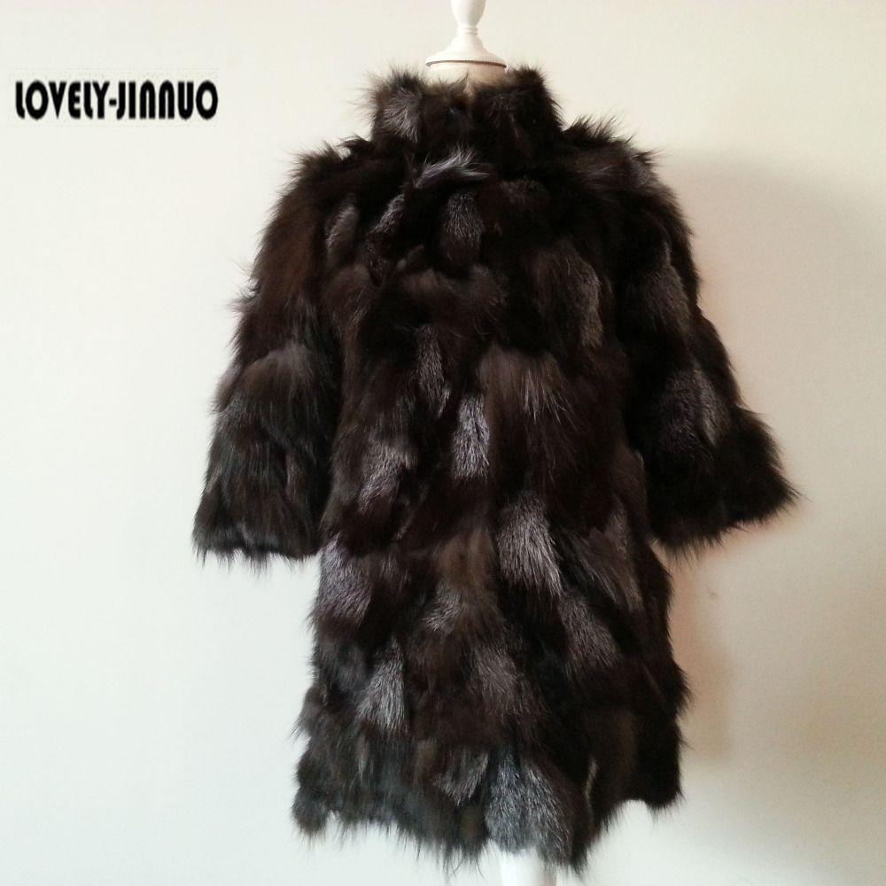 D'hiver Outwear Femmes Réel F806 Renard Plus Fox De Gratuite Taille Custom Gilets Avec Col Veste Manteau Livraison 2018 Fourrure Silver wpPOXqX