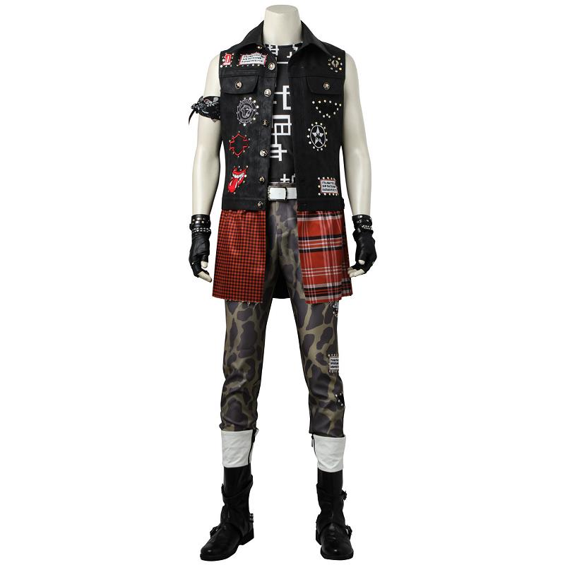 Hot Anime Game <font><b>Cosplay</b></font> <font><b>Final</b></font> <font><b>Fantasy</b></font> <font><b>XV</b></font> <font><b>Prompto</b></font> Argentum Costume Clothing Halloween Christmas Men Suit Male Custom Made image