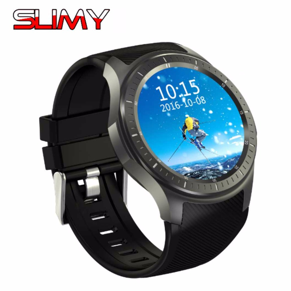 Slimy Wifi Smart Watch Clock DM368 1.39 Inch 400*400 MTK6580 Quad Core 1.3GHZ Android 5.1 3G Smartwatch Heart Rate Google Map no 1 d5 bluetooth smart watch phone android 4 4 smartwatch waterproof heart rate mtk6572 1 3 inch gps 4g 512m wristwatch for ios