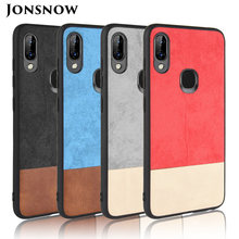 JONSNOW Phone Case for Lenovo K5 Pro L38041 Colorblock Fabric Style Soft TPU Cover for Lenovo S5 Pro L58041 Protective Cases(China)