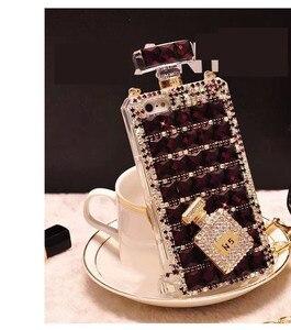 Image 4 - Hot Anna Bling Kristallen Parfumflesje Cases Voor Iphone 12 Mini Xs 11 Pro Max Xr Xs X 6 6S 8 7 Plus Se 2020 Samsung Note 10 Plus