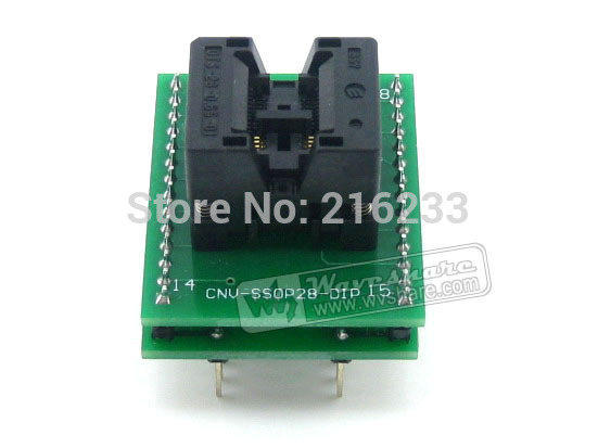 module SSOP8 TO DIP8 (B) TSSOP8 Enplas OTS-8(28)-0.65-01 IC Test Socket Programming Adapter 0.65mm Pitch sop8 to dip8 programming adapter socket module black green 150mil