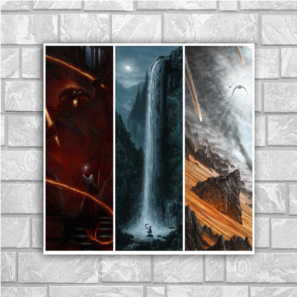 Lord of The Rings Movie Art Canvas Poster Print 60x60cm Movie Pictures Living Room Decor image