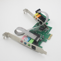 Fast Free Ship Desktop Computer PCI Sound Card,8 Channel Sound Card for PC