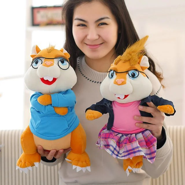 product New Anime Movie Alvin and The Chipmunks Plush Toys Cute Chipmunk Alvin Simon Theodore Brittany Jeanette Eleanor Plush Doll Toys