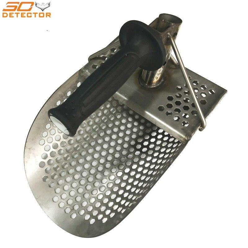 Hand held détecteur d'or en acier inoxydable sable de métal scoop