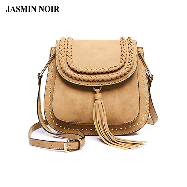 1acf43a805c0 2017 new Bags handbag women famous brands ladies bags fringed tassel Crossbody  bags Saddle designer weave