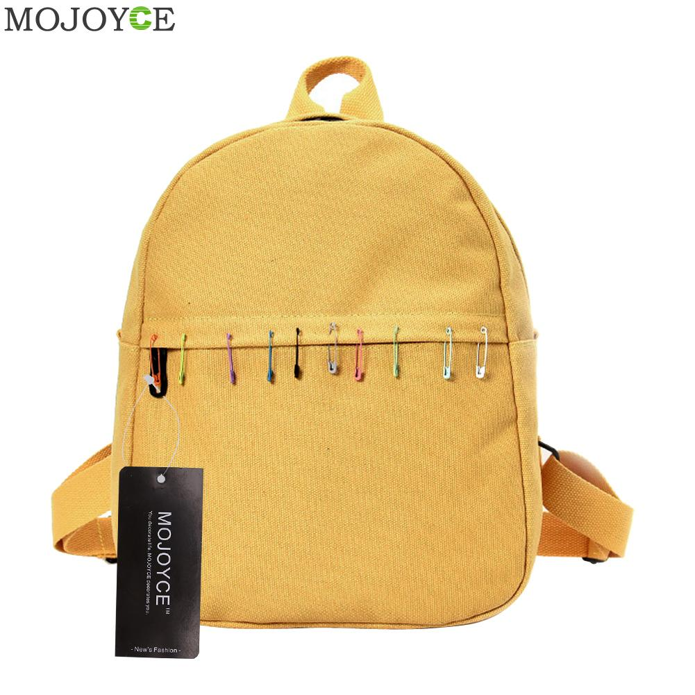 Preppy Chic Canvas Backpack Candy Color Women Backpack Casual Girls School Bags For Teenage Girls Female Backpack Ruckasck canvas backpack women for teenage boys school backpack male