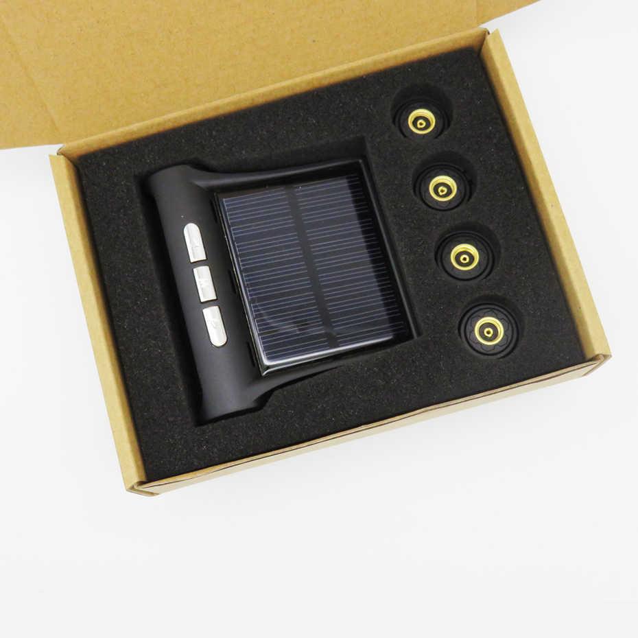 Система контроля давления в шинах на солнечных батареях Visture D01W D01N D02W шин Давление сигнализации Монитор Системы автомобиля Дисплей 4 внешних с сигнализацией и датчиком Температура Предупреждение