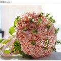 Новый 2016 Искусственный невесты Руки Холдинг белая Роза 4 Цвета Свадебные Украшения букет dama de honra