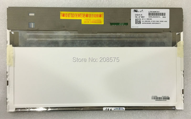 Free Shipping LTN160KT01 16 50pin 1600*900 LED screen LCD Display Laptop Screen free shipping new ltn133yl03 l01 laptop lcd led screen 13 3 notebook led display yoga 3 pro display screen href