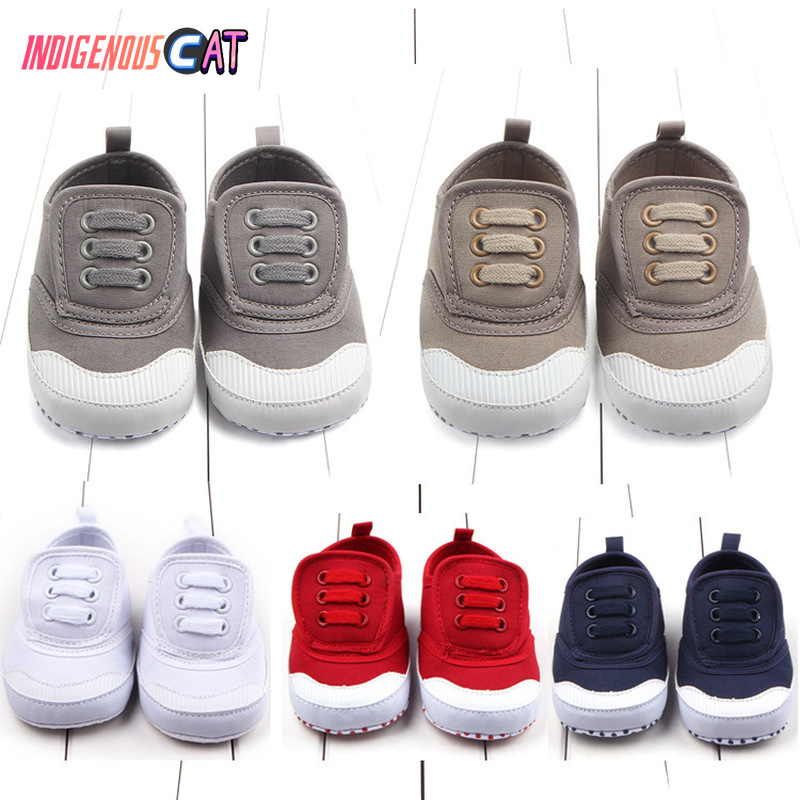 Autumn new hook and loop canvas baby shoes foreign trade toddler D0634