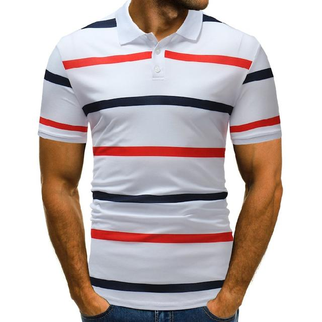 New  Style  Plus Size   Polo Shirt Men Short Sleeve  Print   Summer Polo Shirt Men  Striped   Camisa Polo Masculina