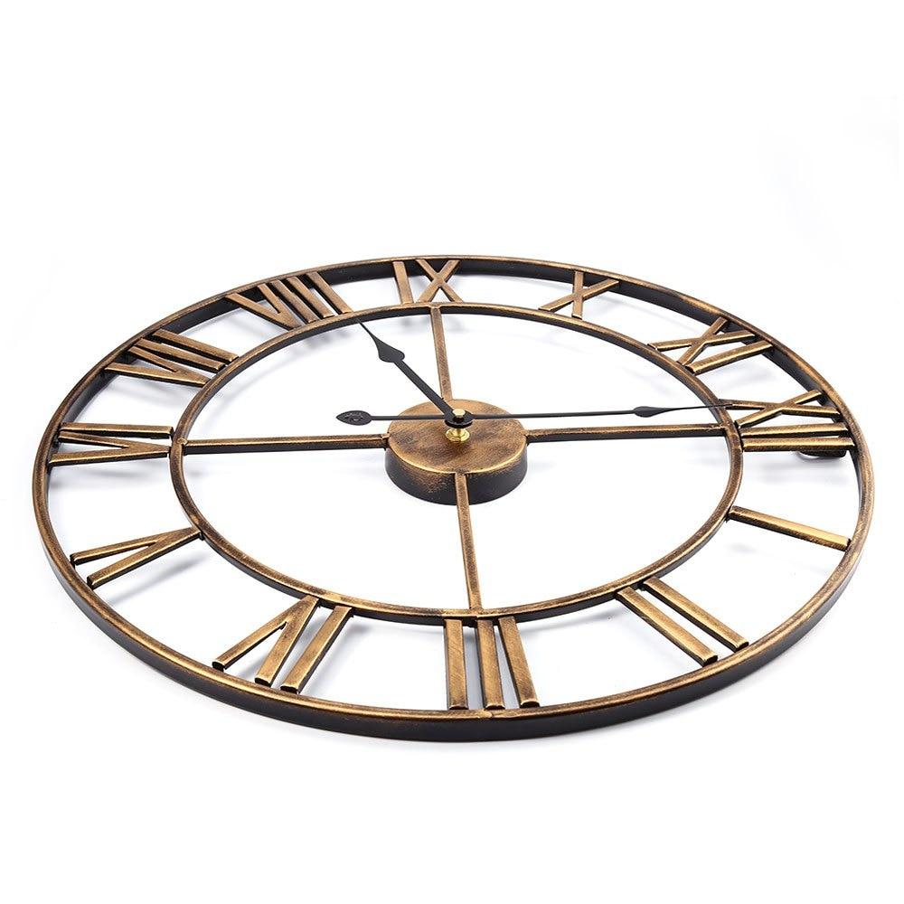 185 Inch 3D Large Iron Retro Decorative Wall Clock Big Art Gear