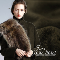 Woolen Double Sided Cashmere Wool Fabrics Nordic Style 100 Full Wool Autumn And Winter Fabrics