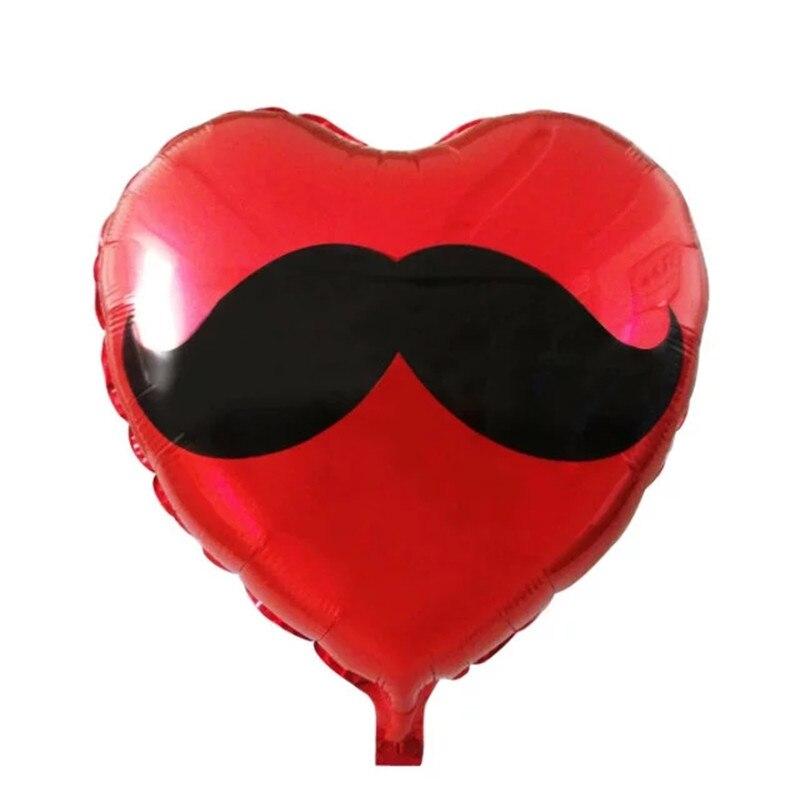 Beard heart Foil Balloons helium Balloon Inflatable Toys happy Birthday balloons wedding decorations air balls party supplies