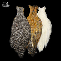 Fly Tying Material Dry Fly Hackle Hen Necks Feather Capes 3 Color Grizzly White Golden Brown