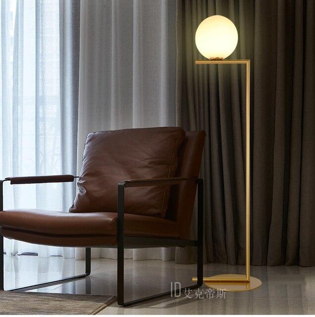 Nordic stand lamp floor lights Modern glass ballpersonality bedroom ...