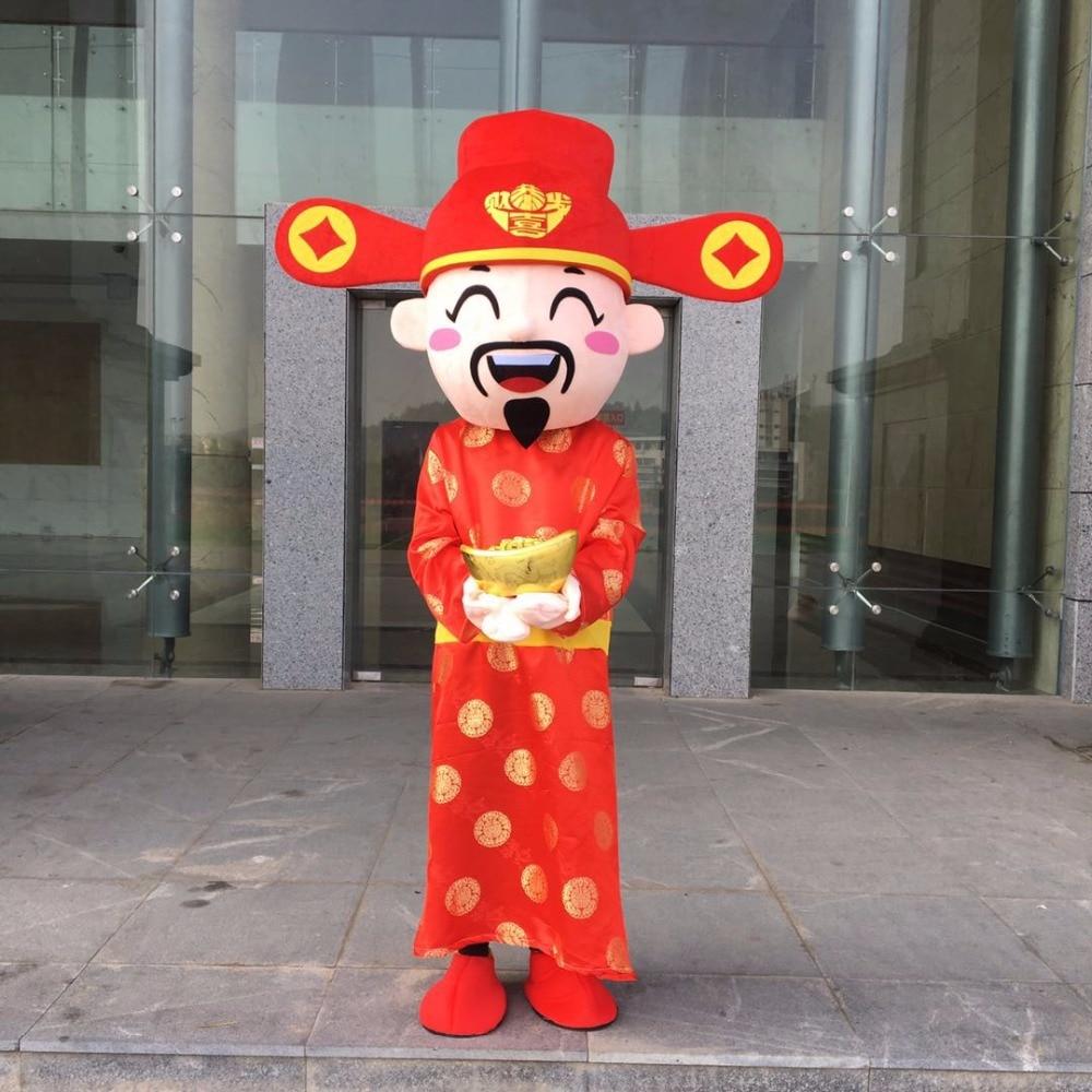 Offre spéciale dieu de la fortune costume ours minion mascotte costumes Halloween fête de noël costume