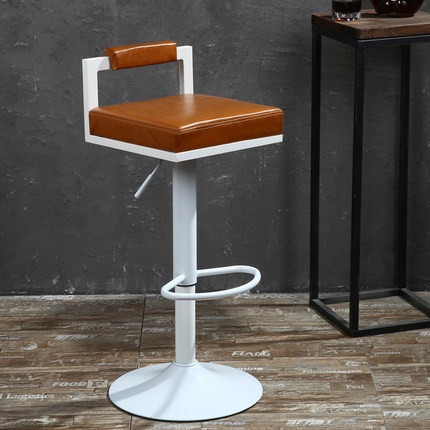 brown color seat bar chair KTV room stool free shipping PU leather seat furniture chair