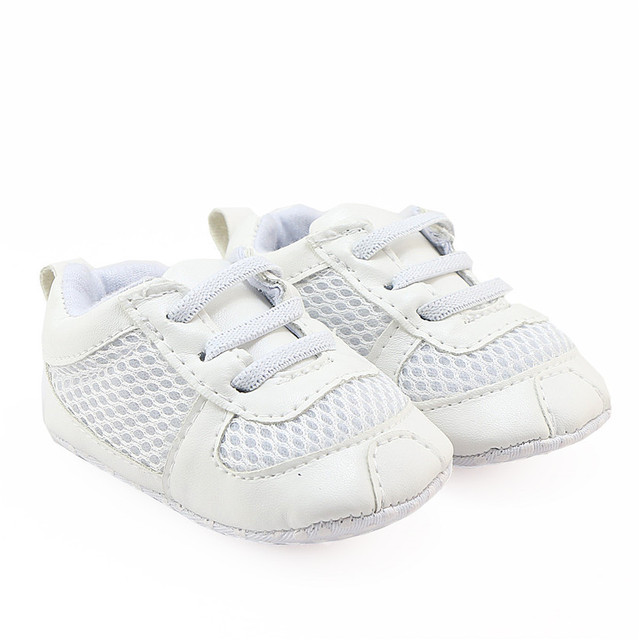 For Infant Boys Girls White Tennis Shoes Soft Sole Baby Football