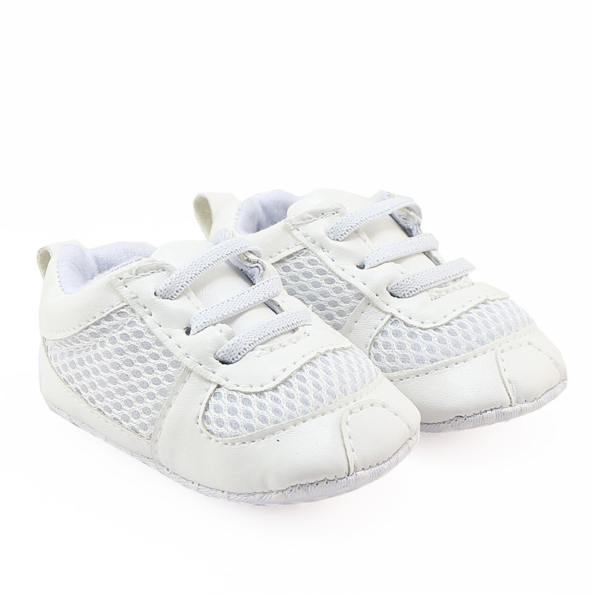 For Infant Boys Girls White Tennis Shoes Soft Sole Baby Football Shoes Cute Fashion Sneakers