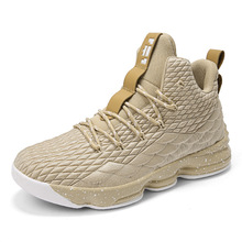 2019 New Style Breathable Basketball Shoes Men High Top Shoc