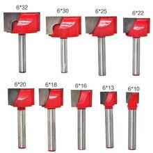 Broca para fresadora de madera de cepillado de superficie, 10/13/16/18/20/22/25/30/32mm, 1 unidad