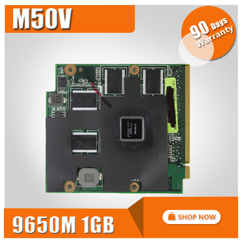 Graphic Card For ASUS Free bios M50V M50VM M50VC M50VN X57 notebook G96-650-C1 upgrade Improved versio Video Card 9650 1GB test видеокарта пк asus 1gb r7240 1gd3 r7240 1gd3